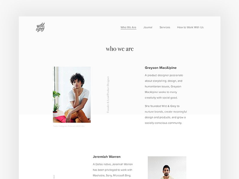 About Us Page Design, About Us Page, Web Design Inspiration