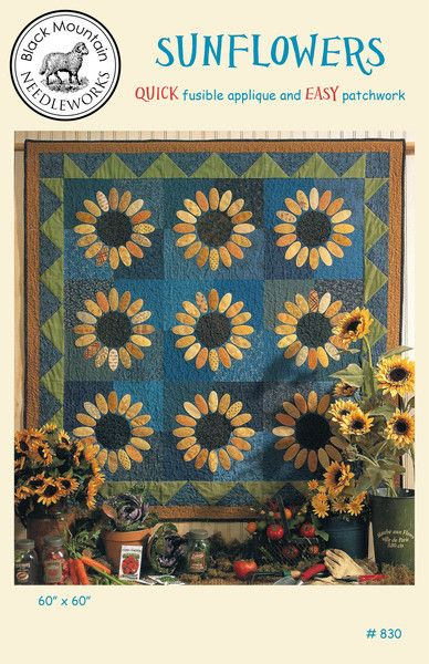 Sunflowers--download PDF pattern | Quilts und BOMs mit Applikationen ...