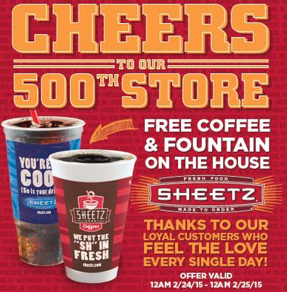 Free Sheetz Coffee And Fountain Drinks All Day  Freebies And