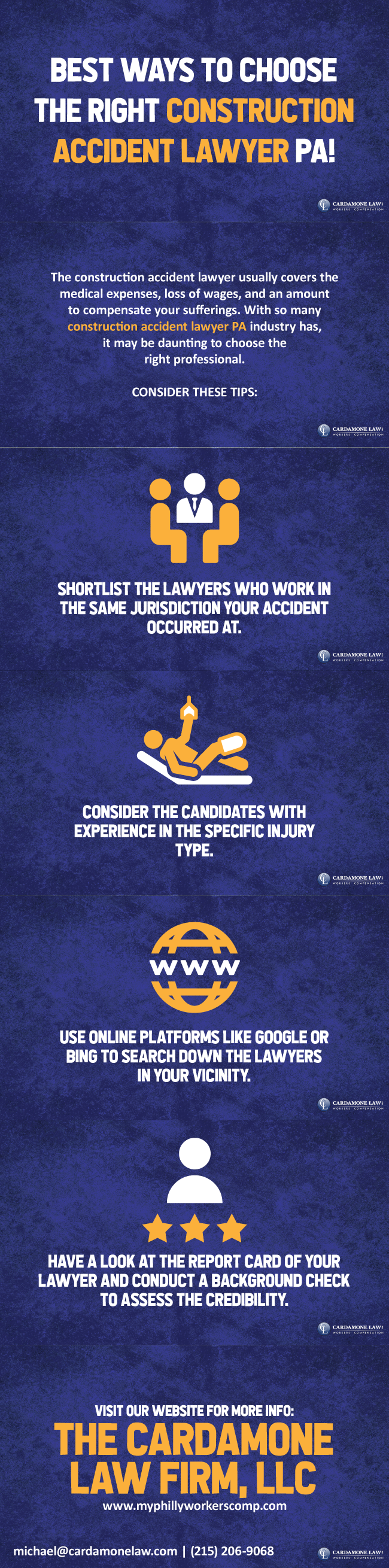 Choose The Right Construction Accident Lawyer PA Injury