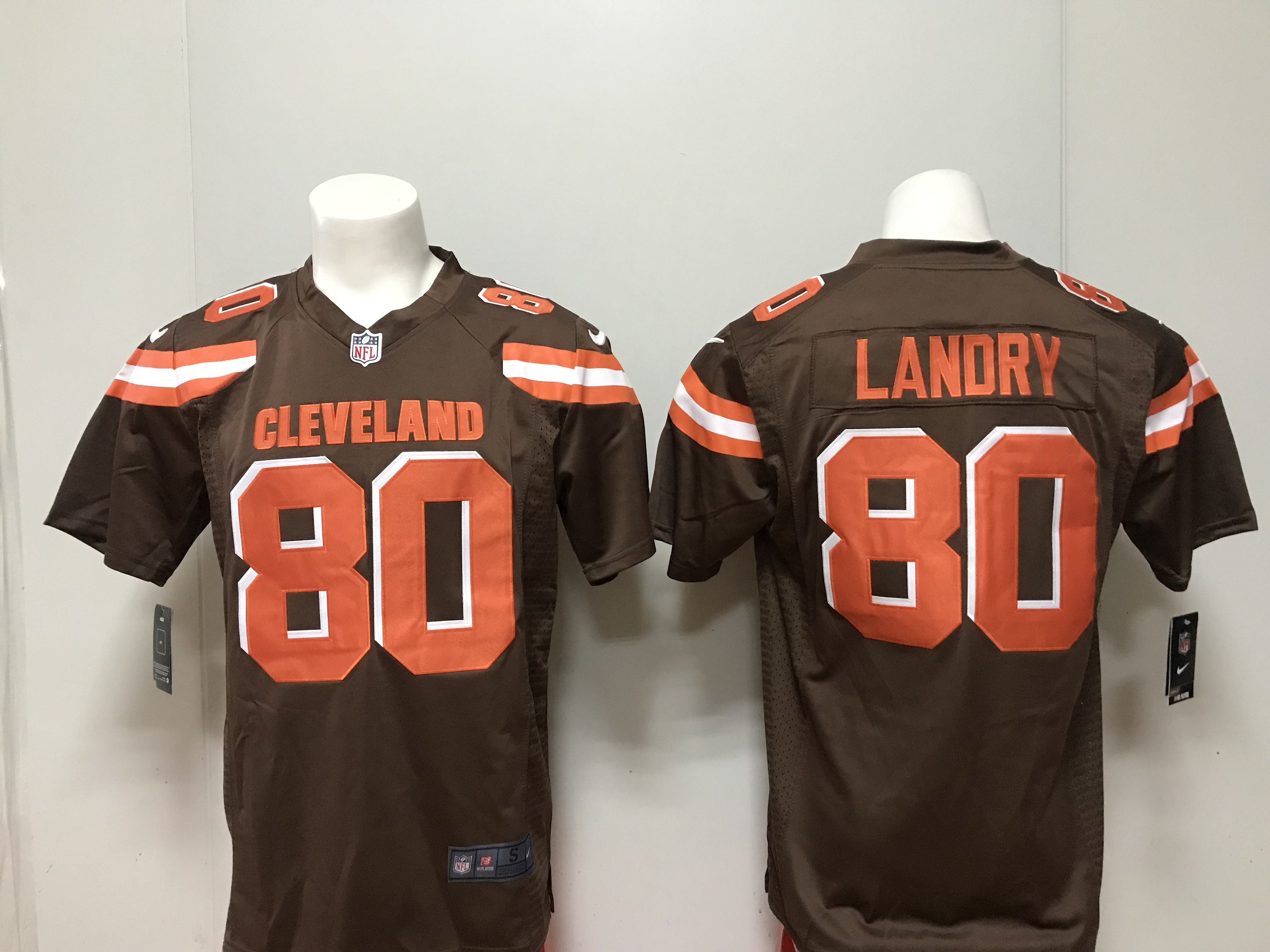 official photos 459b6 09c56 Men Cleveland Browns 80 Landry Nike brown 2018 NFL Draft ...