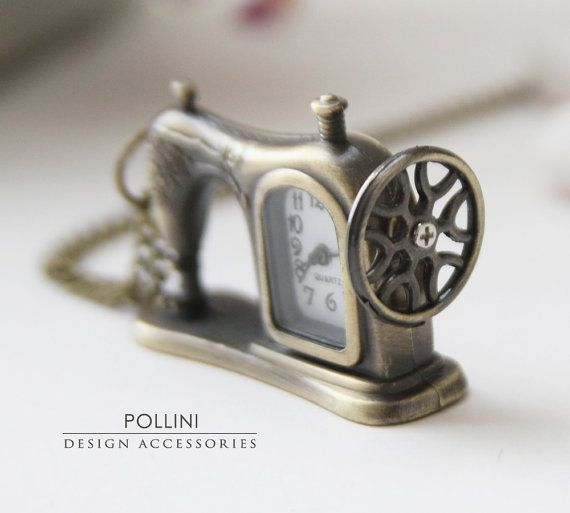 sew sew sew cute ... Old sewing machine clock