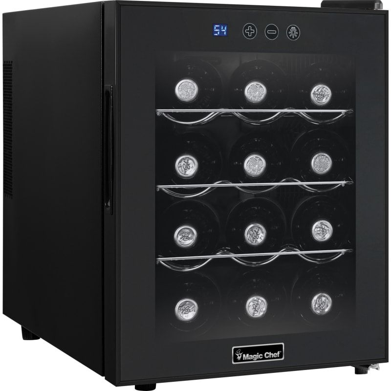 Magic Chef Mcwc12 14 Inch Wide 12 Bottle Capacity Countertop Wine Cooler With Di Black Refrigerators Wine Cooler Italian Wine Wine Fridge Magic Chef