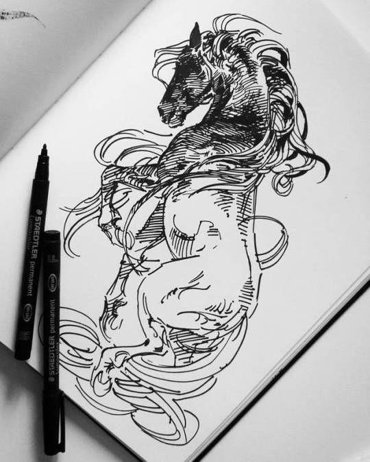 Akreon Horse Drawings Horse Art Horse Tattoo