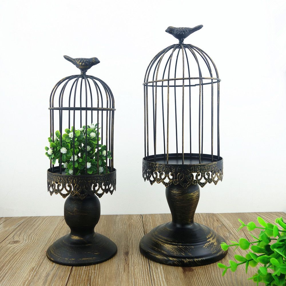 Wholesale Handmade Candleholder Farol Table Moroccan Decorative Birdcage Wrought Iron Tall Candle Stand Holders For Wedding