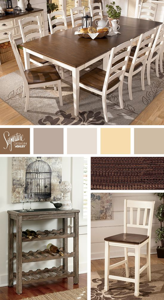 Astounding Vintage Inspired Whitesburg Dining Room Ashley Furniture Interior Design Ideas Apansoteloinfo