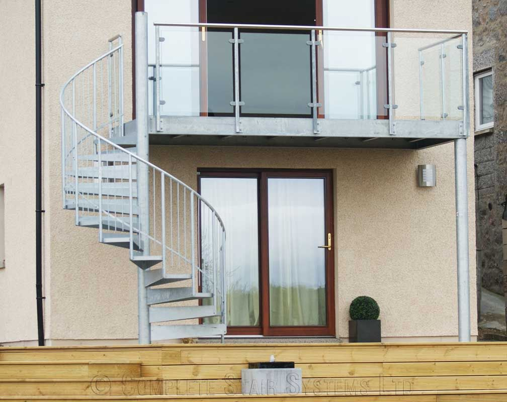 External Spiral Staircase Kits #Staircase