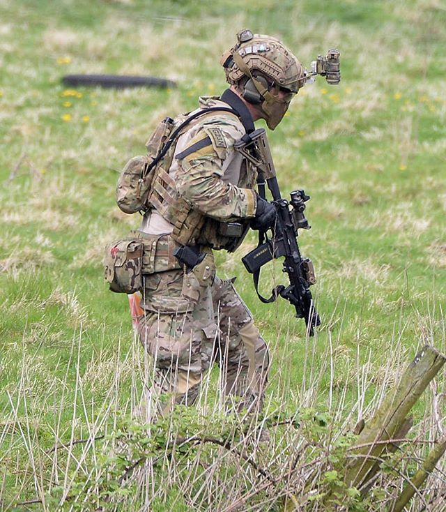 A member of 22 SAS, pictured during Exercise Winchester