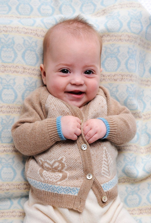 1412729ad Cashmere Owl Cardigan - Baby Knitwear