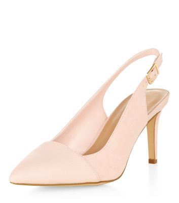 a80ce5e038c New Look Pale Pink Pointed Sling Back Court Shoes | Dress up my feet ...