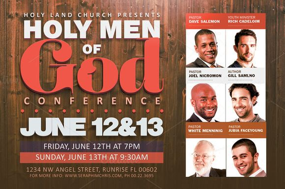 Men of God Conference Flyer Template by SeraphimChris on Creative - conference flyer template