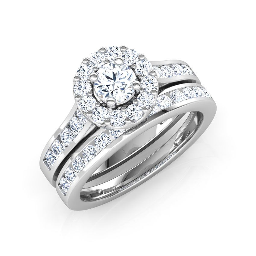 Dazzling Solitaire Bridal Ring Set Bridal Ring Sets Bridal