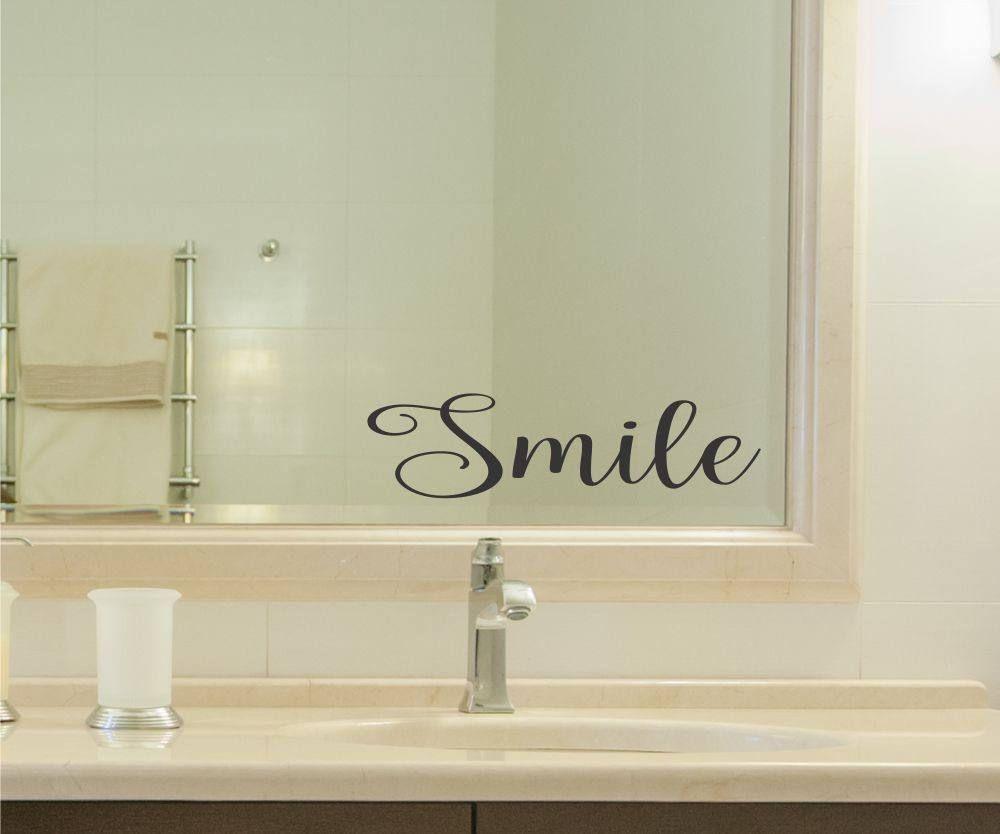 Smile Vinyl Decal Sticker bathroom mirror wall art ...
