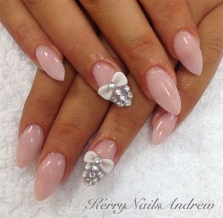best nails acrylic almond gems 50 ideas nails