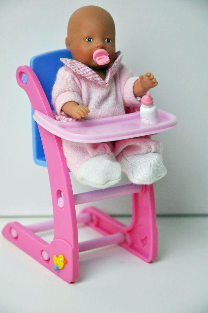 baby born puppen mini wold hochstuhl sitz mit puppe zapf creation mini baby born mini. Black Bedroom Furniture Sets. Home Design Ideas