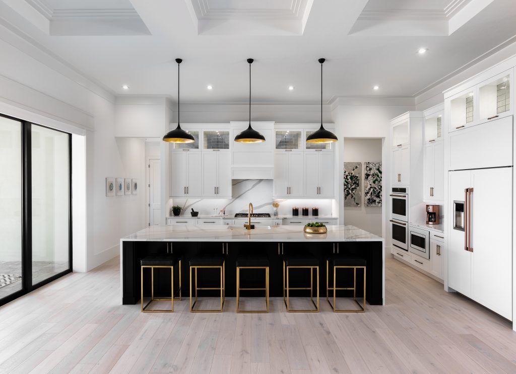Download Wallpaper Black Or White Kitchen Island