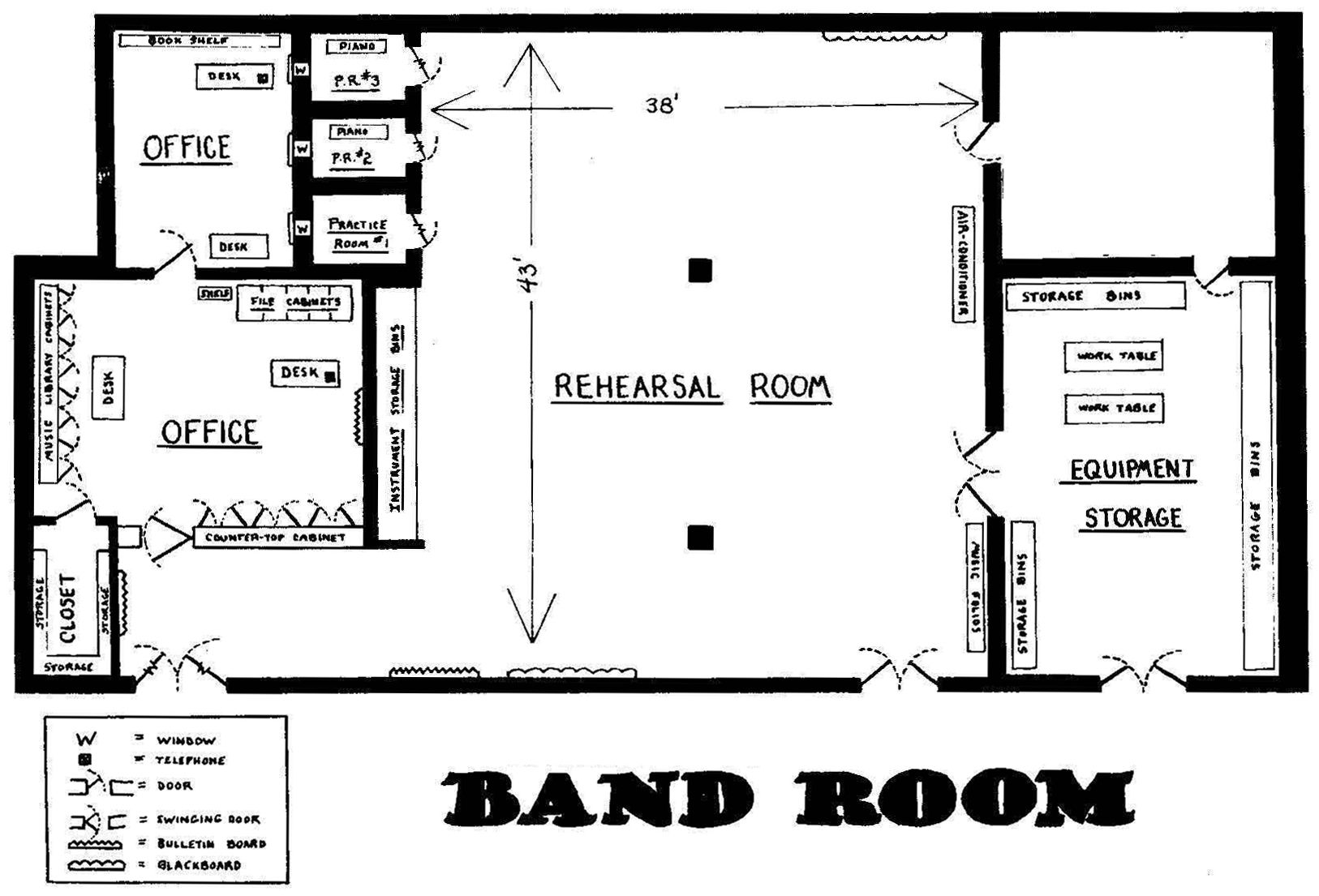 hight resolution of band room layout