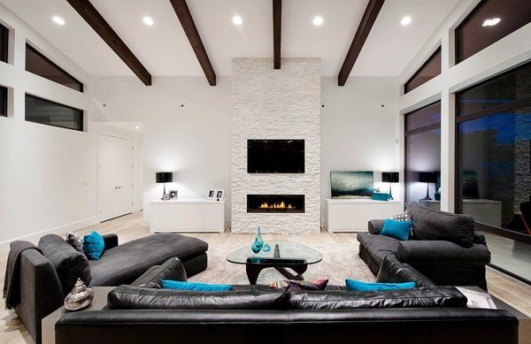 Designing A Living Room With A Fireplace And Tv Custom Image Result For Two Story Fireplace With Tv Above Fireplace Decorating Inspiration