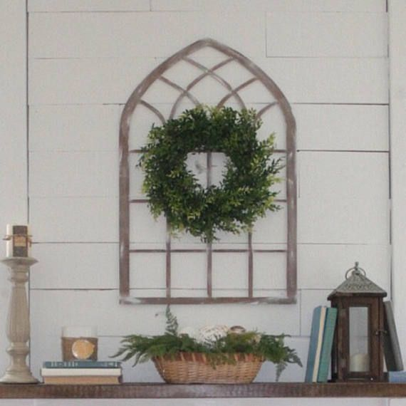 Laser Cut Cathedral Window Arch Farmhouse Style, inexpensive window arch, farmhouse style window