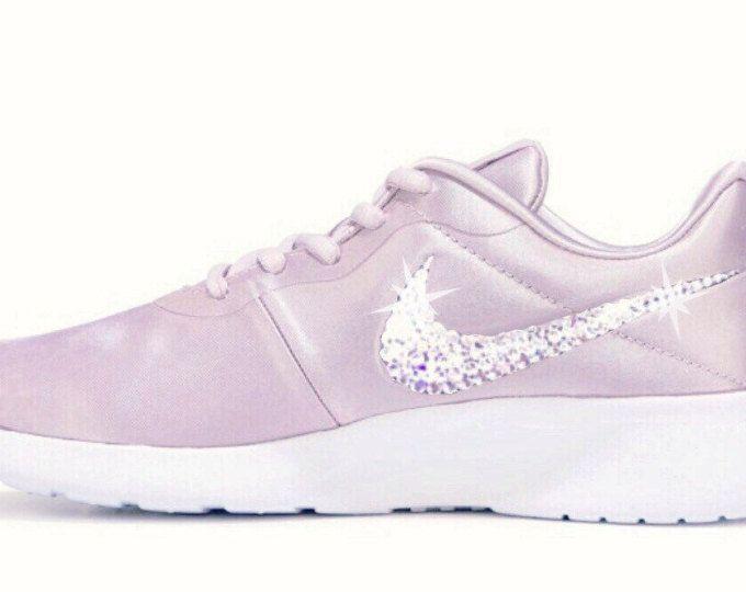 Bling Sneakers for Women Nike Tanjun in pink Satin with Swarovski details  perfect gift 5bd0f5c512