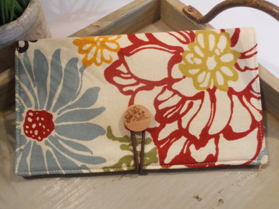 CHECKBOOK Cover with Button and Elastic Closure by ItsSewDarnCute, $12.00