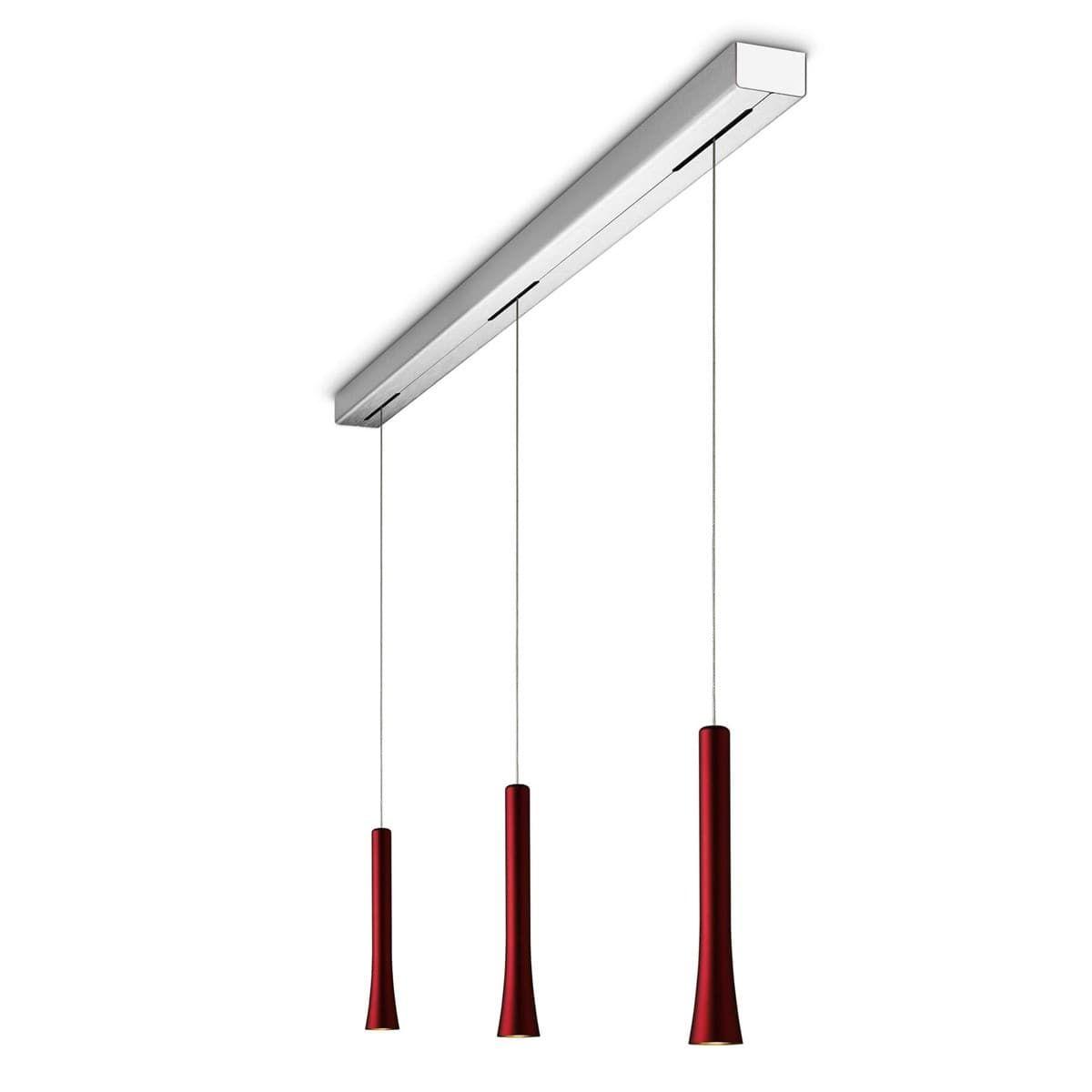 Oligo Rio Pendelleuchte 3 Flg Red Velvet Dunkelrot In 2020 Wohnzimmer Leuchte Pendelleuchte Led Strahler