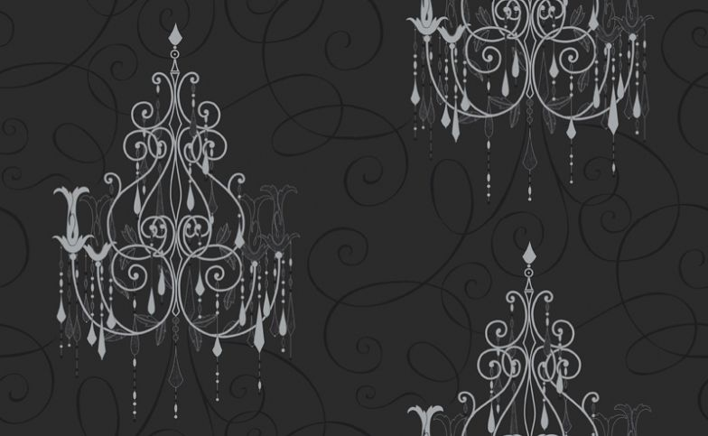 Chandelier M0238 Vymura Wallpapers Drawn In Metallic Silver