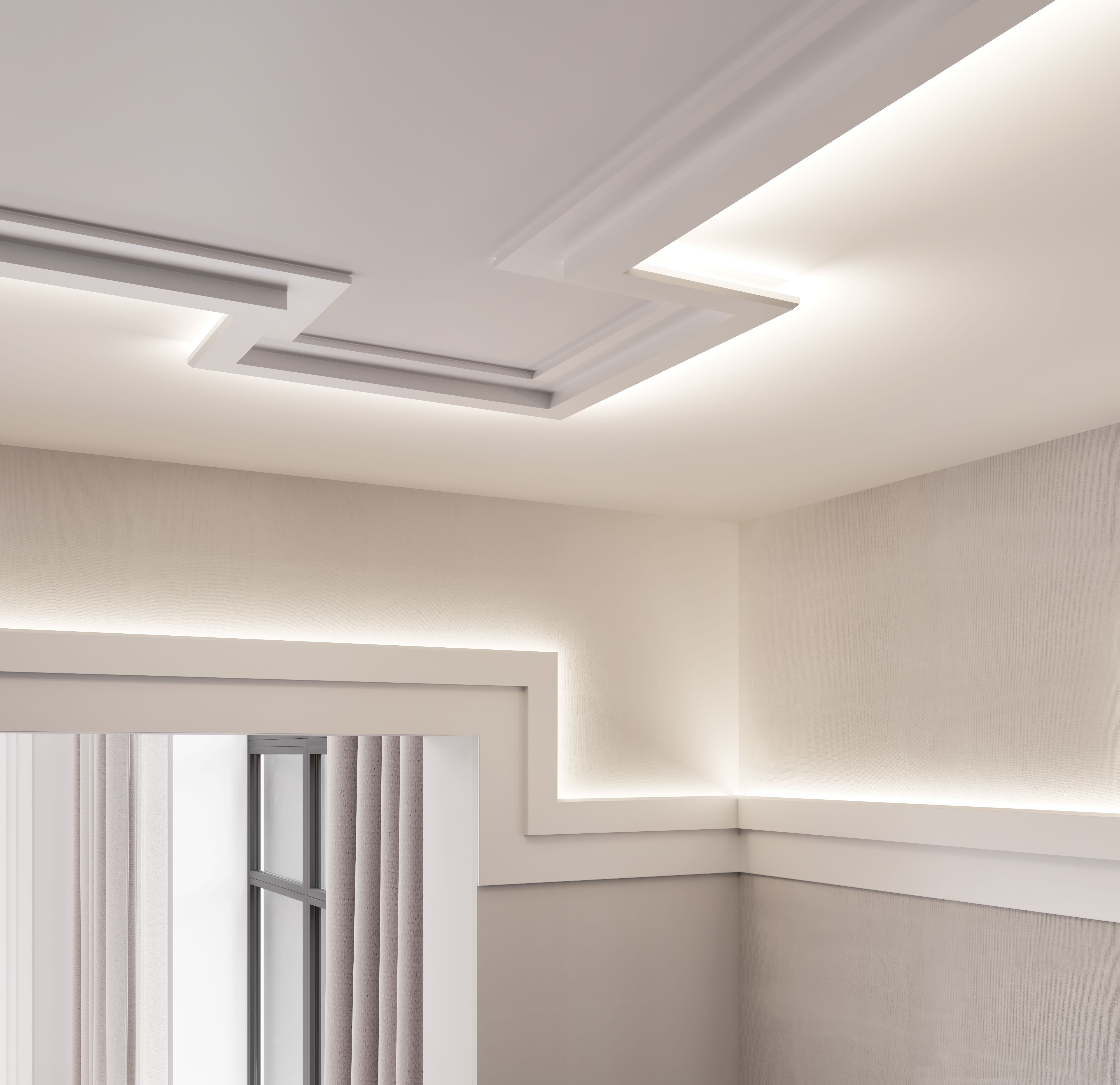 Veletta Cartongesso Con Led our c353 coving creates a beautiful contemporary detail on