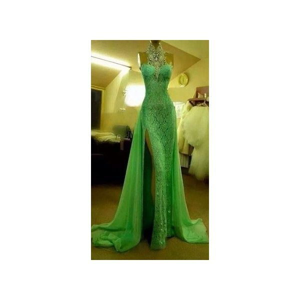 Kimono dress ❤ liked on Polyvore featuring dresses, green kimono ...
