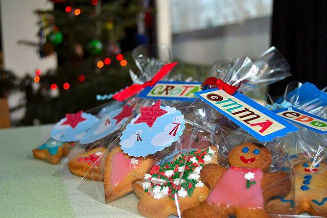 Regalo de galletas de navidad