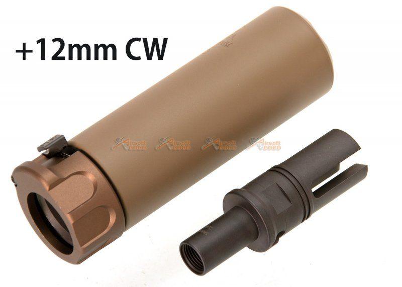 SOCOM 46 Style Mini Dummy Silencer with +12mm CW Flash Hider for VFC