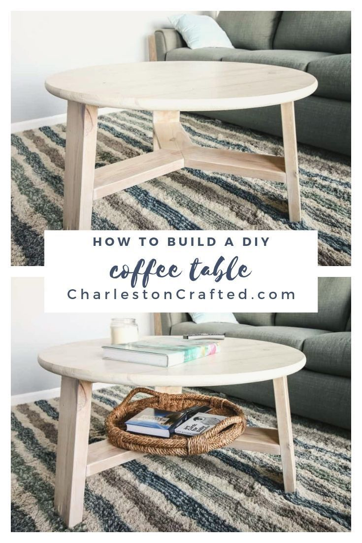 How To Build An Easy Modern Diy Coffee Table Coffee Table Round Wood Coffee Table Coffee Table Decor Living Room [ 1102 x 735 Pixel ]