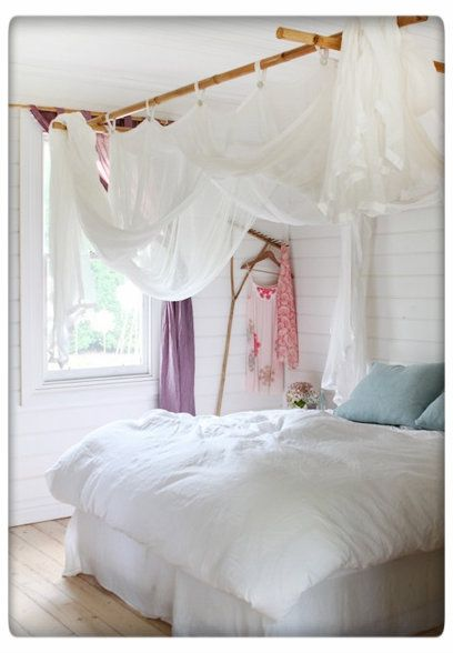Whimsical Bamboo Bed Canopy White Bedroom Design Kids Room Curtains Bedroom Design