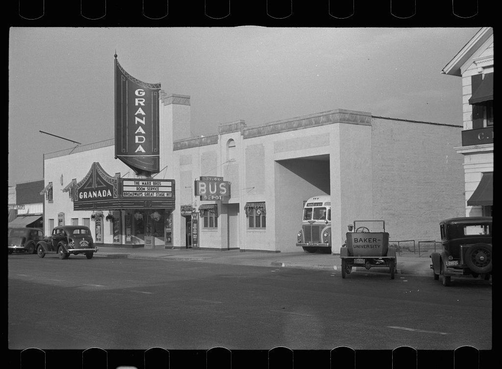 The Granada Lawrence Ks 1938 California Architecture Stock