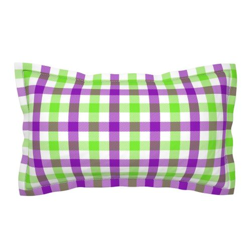 Colorful fabrics digitally printed by Spoonflower - Plaid - Green Magenta