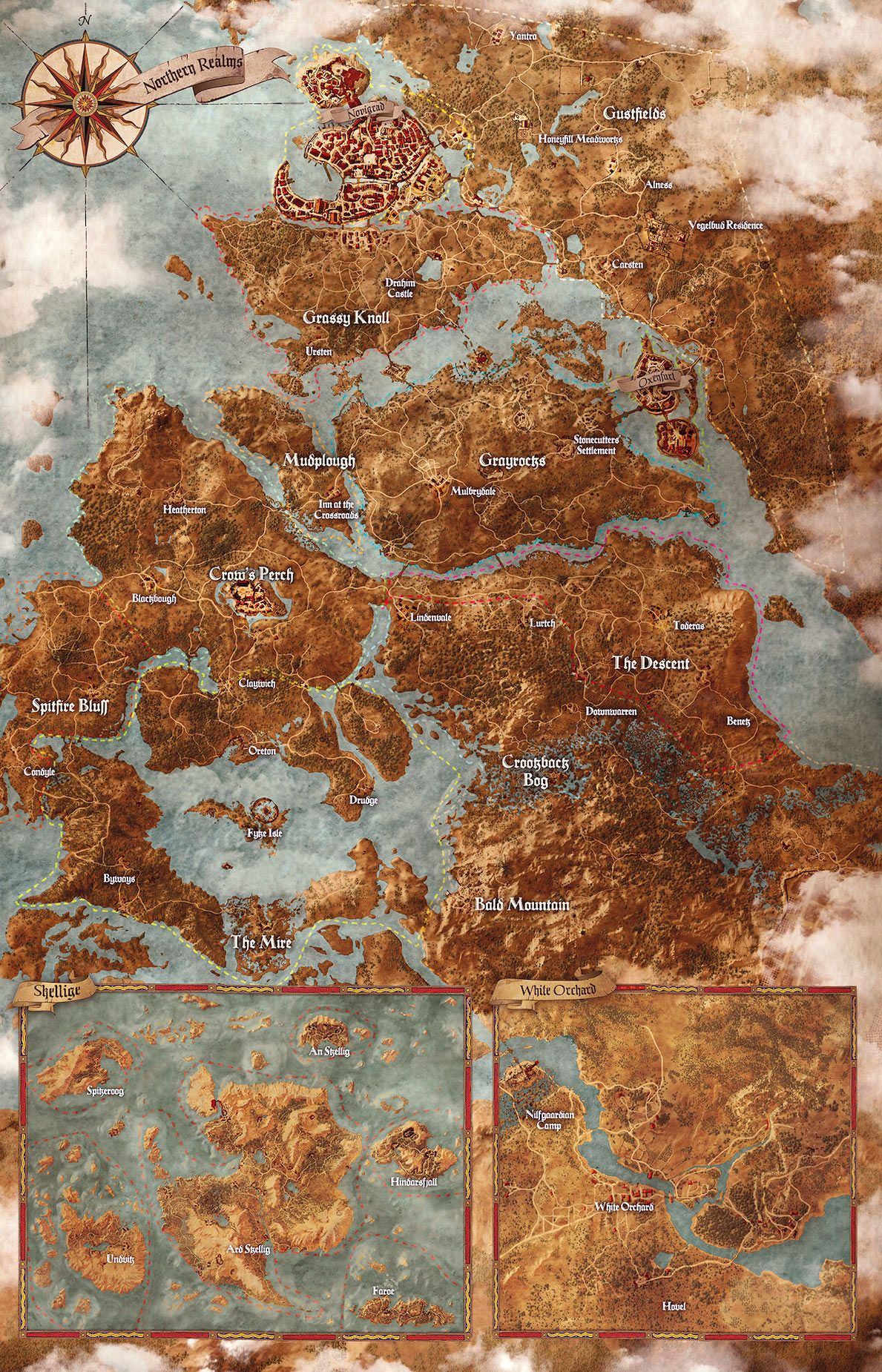 Painted map for The Witcher 3: Wild Hunt. | Hobby stuff in 2018 ...