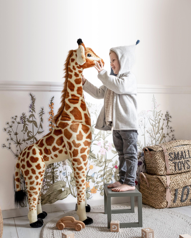 Standing Giraffe Stuffed Animal 50x40x135 Cm Brown Yellow Giraffe Stuffed Animal Giraffe Plush Giraffe [ 3000 x 2400 Pixel ]