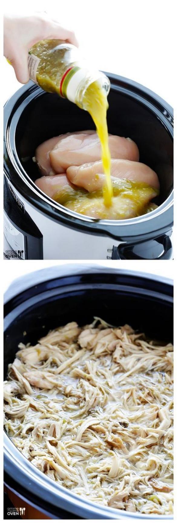 4ingredient slow cooker salsa verde chicken  full of
