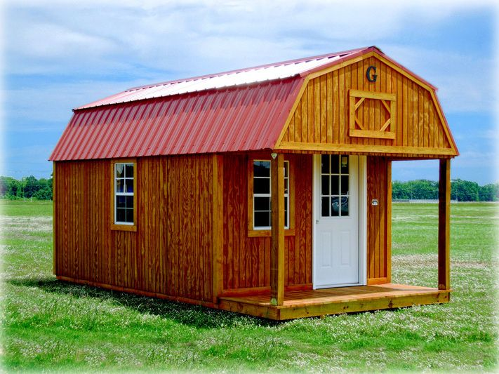 Lofted Barn Cabin- Sizes available: 10 x 16 to 14 x 40 ...
