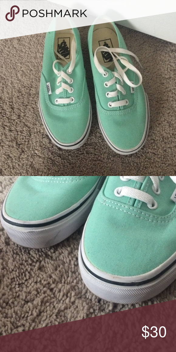 vans mint vans. only wore once but has a little scuff shown above. probably  can come off with magic eraser. Vans Shoes Sneakers e257456b3