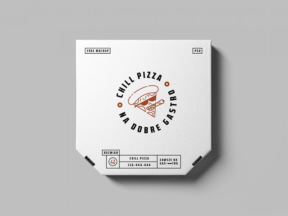 Download Free Pizza Box Mockup Free Mockup Pizza Box Design Pizza Branding Packaging Mockup