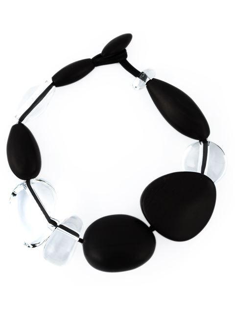 Monies oversized stones necklace - Black GF2eleP9