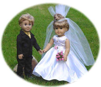 Beautiful Doll Dresses - Wedding Dresses, Fancy Doll Dresses
