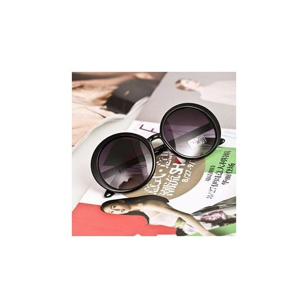 621882e8127e Letter Round Sunglasses ( 6.90) ❤ liked on Polyvore featuring accessories