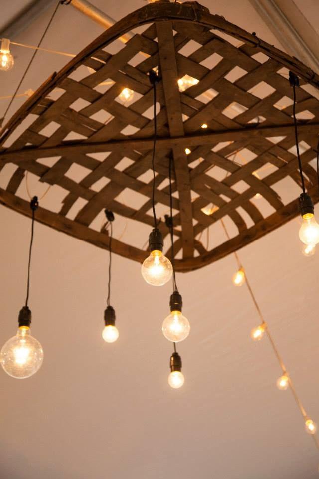 Vintage Wedding Tobacco Basket Lights Clemmie Grace Designs