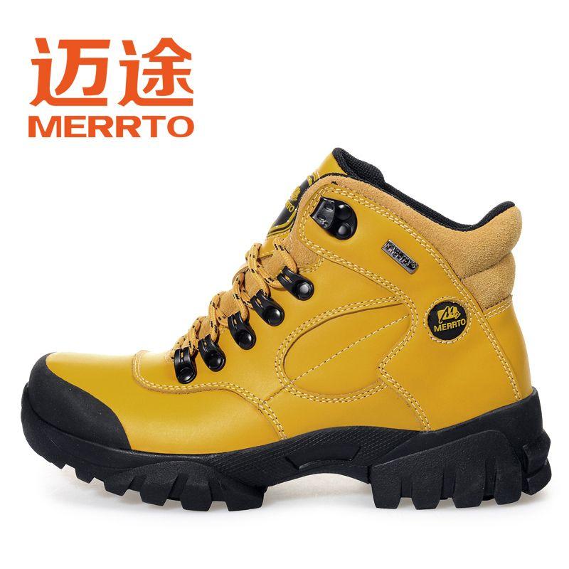 online store 55ebd cae6d Encontrar Más Zapatos de senderismo Información acerca de Merrto mujeres  deportes moda de cuero exterior senderismo Trekking zapatos botas para para  ...