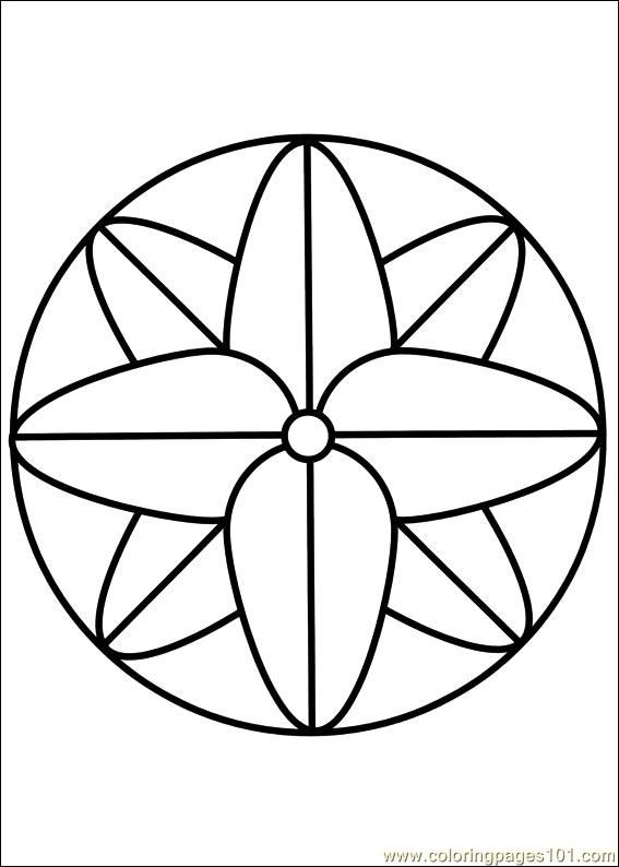 Mandala 68 Coloring Page | Simple mandala, Mandala coloring pages ...