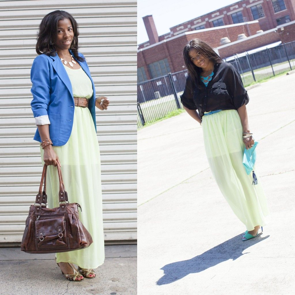 See #howto wear a maxi dress as a skirt with these #tips # ...