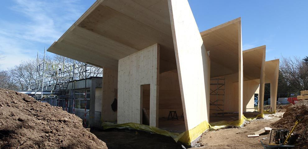 Cross Laminated Timber Construction. Falmouth School.