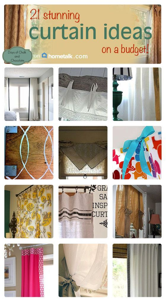 Curtains On A Budget Days Of Chalk And Chocolate S Clipboard On Hometalk Diy Window Treatments Curtains Diy Curtains
